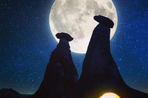 Kapadokya Dolunay Gece Yürüyüşü